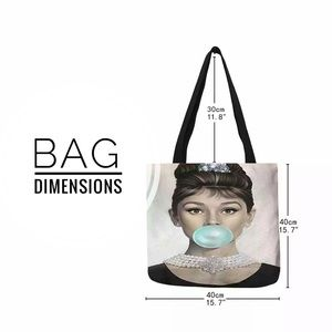 """Inspired Closet Bags - NEW! Audrey Hepburn """"Be the Leading Lady"""" Tote Bag"""